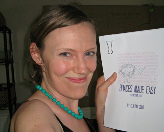 Claudia with her finished manuscript!